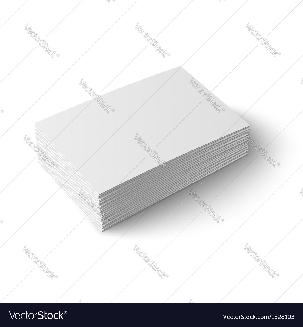 Stack of blank business card royalty free vector image stack of blank business card vector image reheart Images