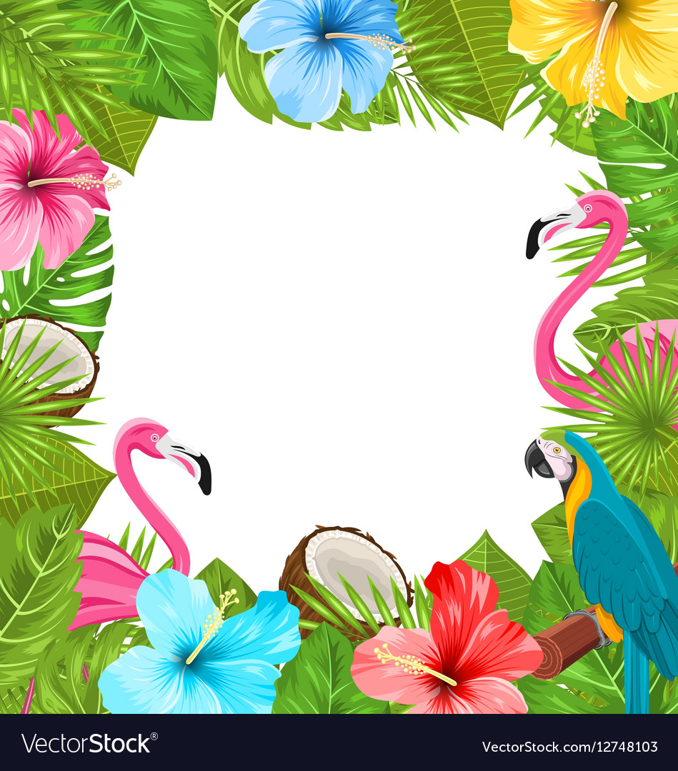 Tropical frame made in beautiful plants royalty free vector tropical frame made in beautiful plants vector image izmirmasajfo