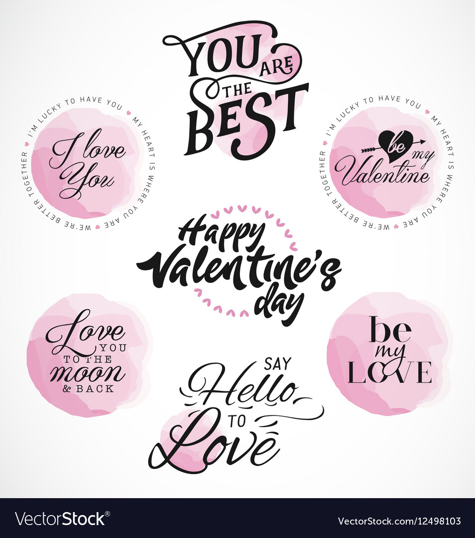 Valentines Day Typography Designs