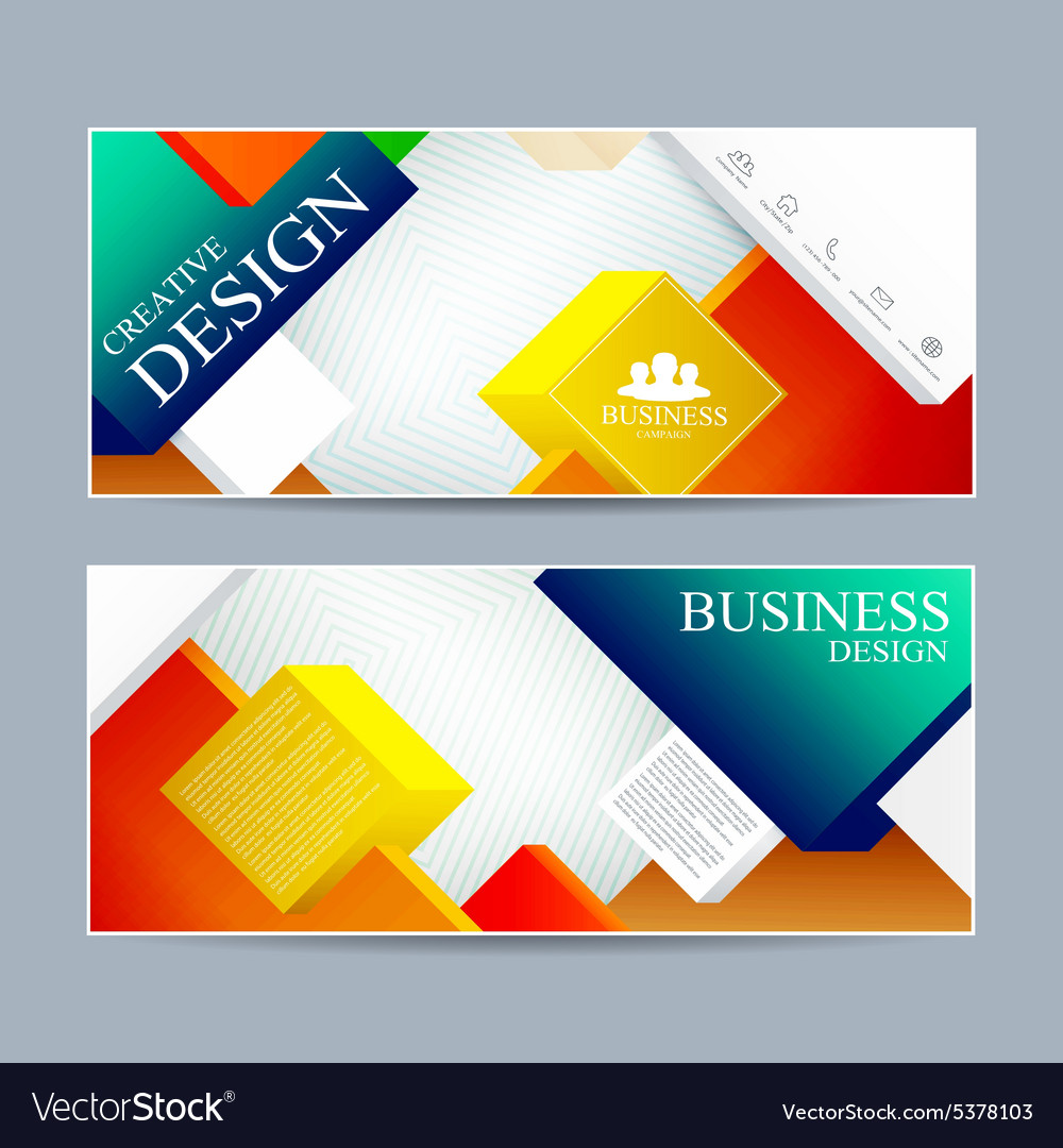 Web banner design Modern template cover layout