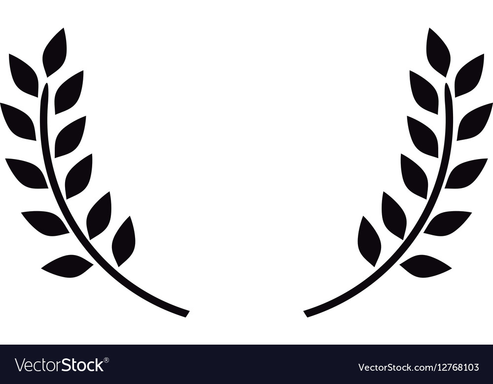 wreath leaves ornament royalty free vector image