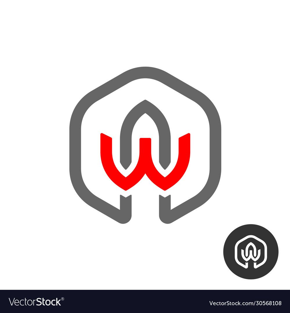 A and w capital letters logo aw or wa initials