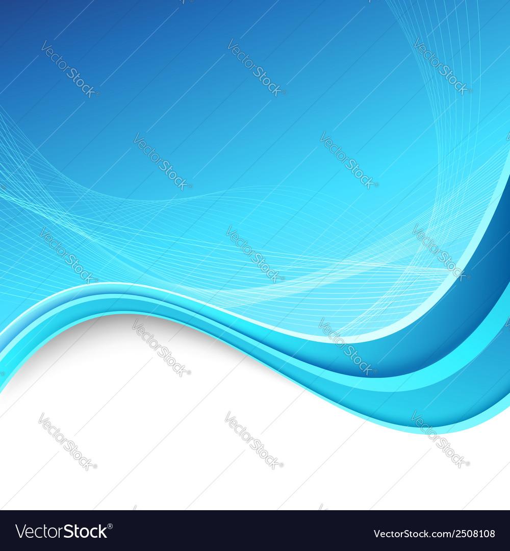 Abstracrt swoosh border lines blue background vector image