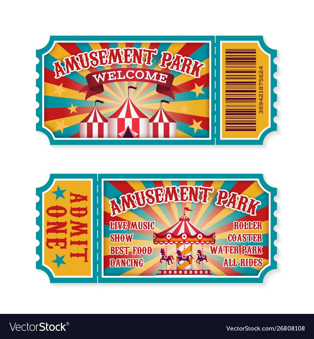 Amusement park ticket family park attractions