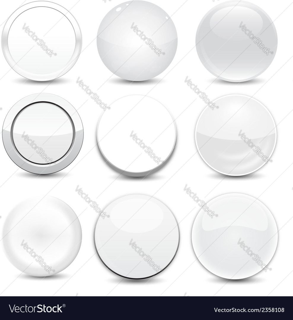Blank white buttons