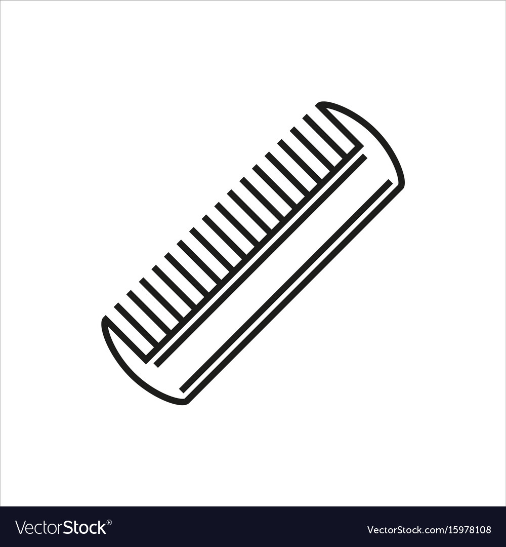 Comb icon isolated on white background