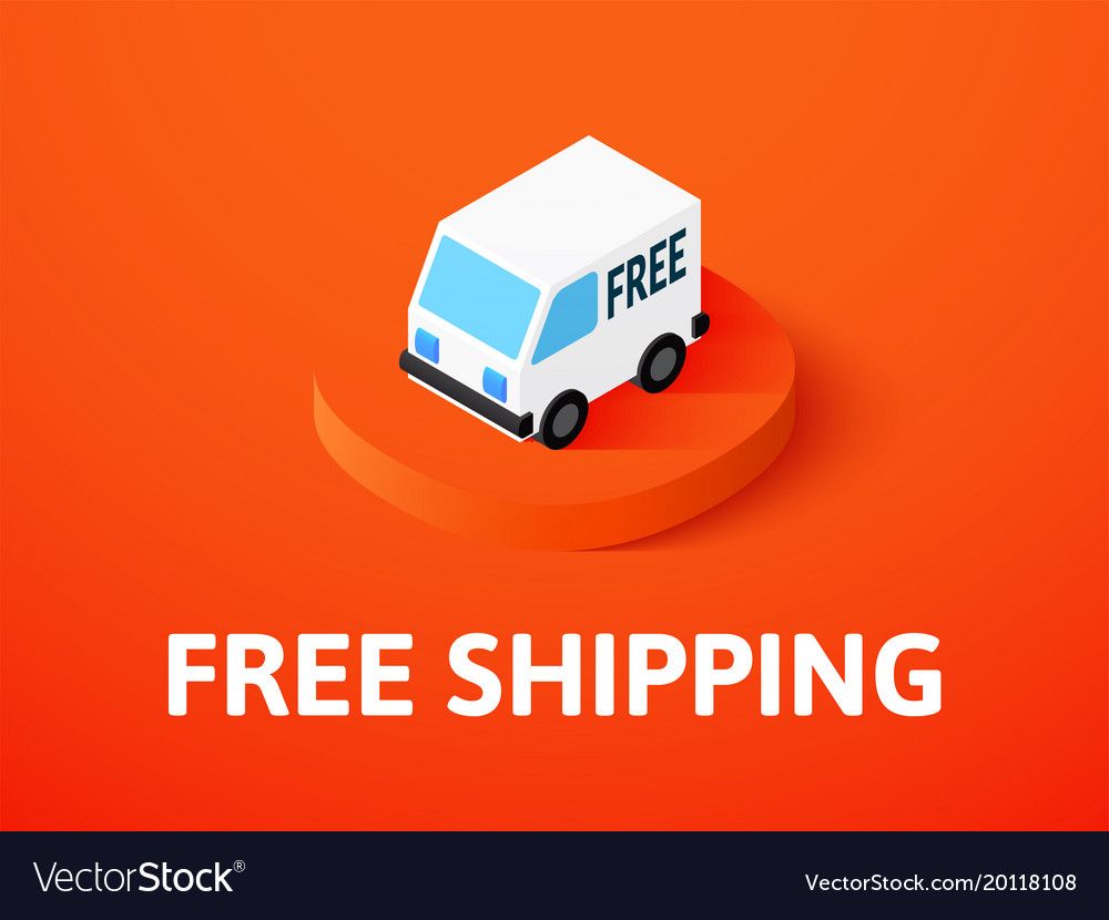 Free shipping isometric icon isolated on color
