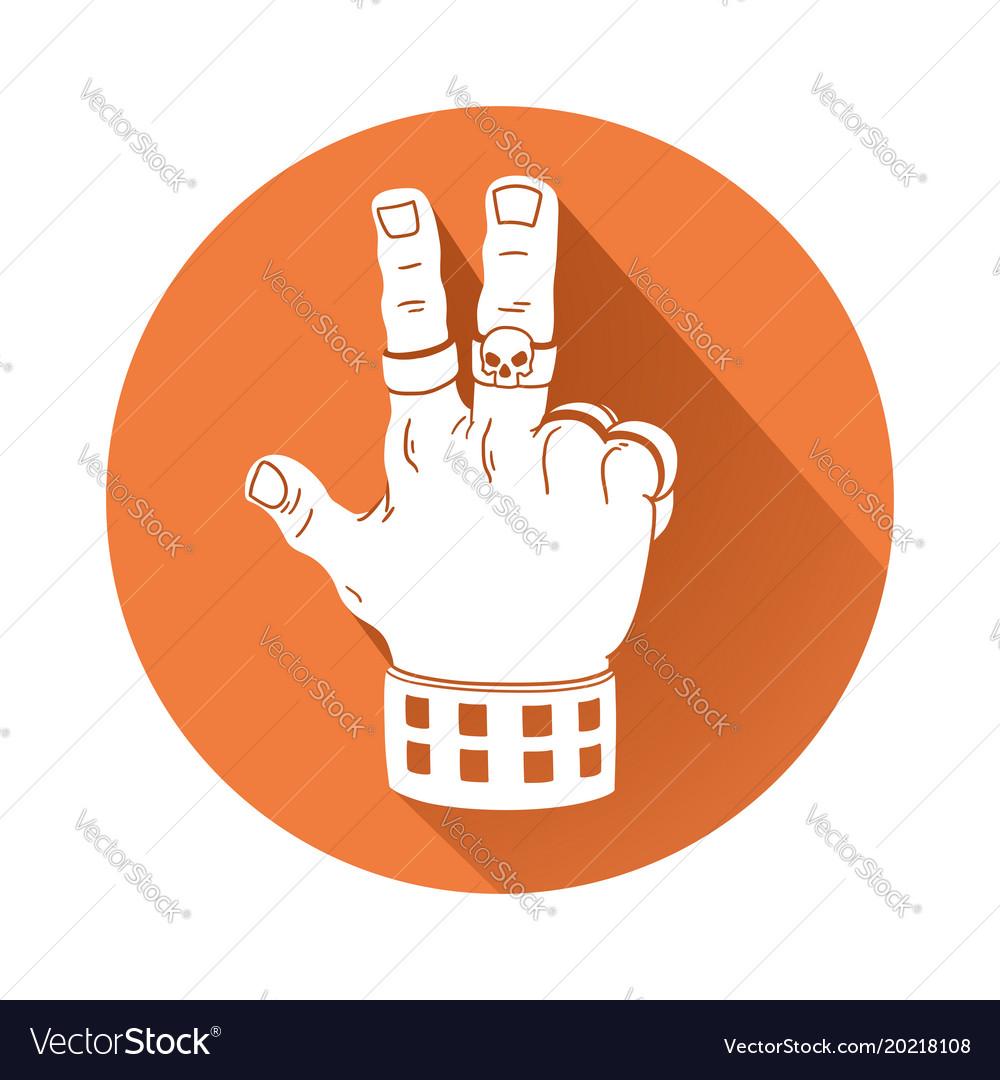 Hand in rock gesture symbol