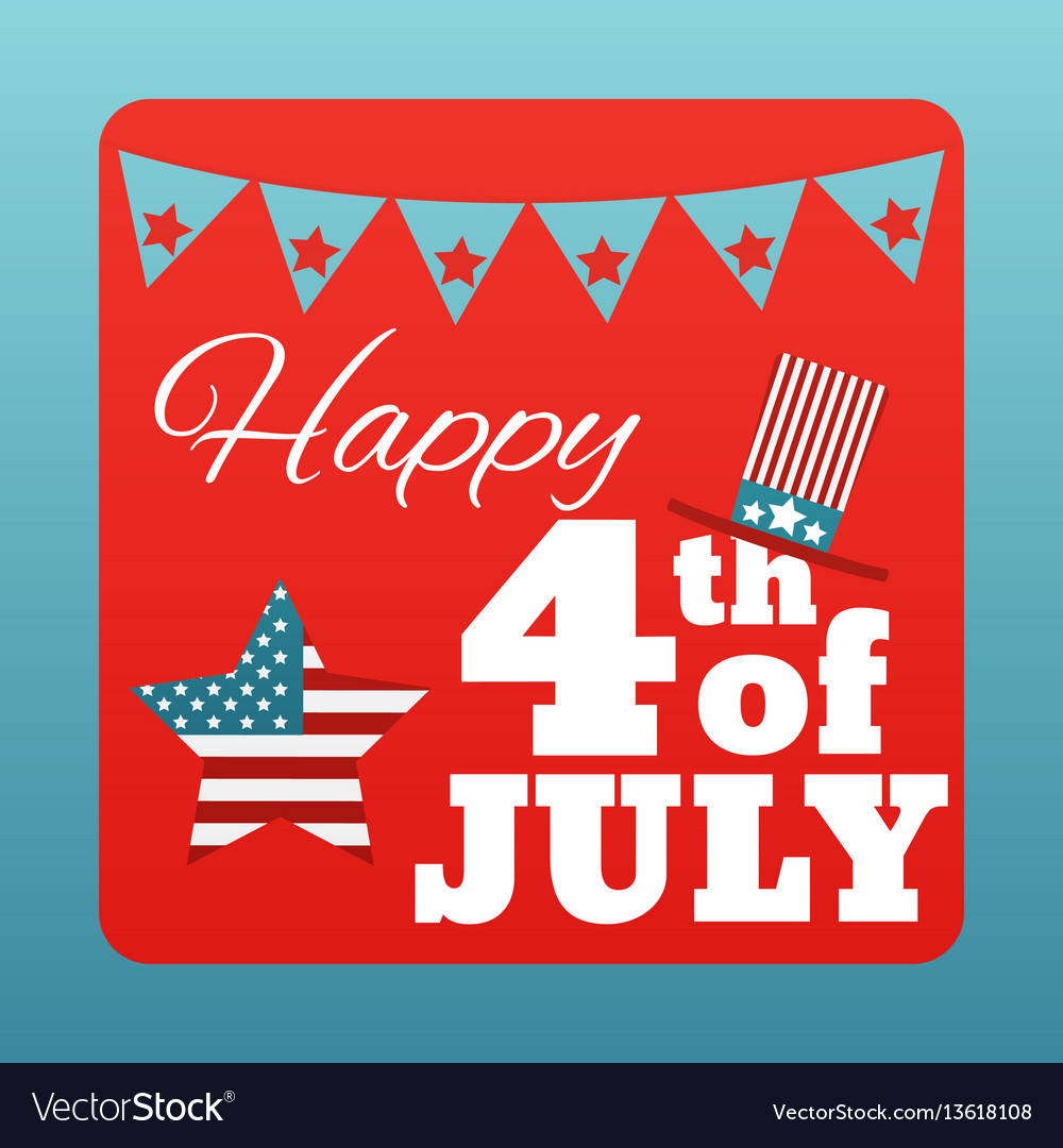 Happy 4 th of july card united states of america