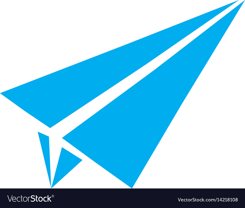 Paper airplane flat icon paper airplane sign