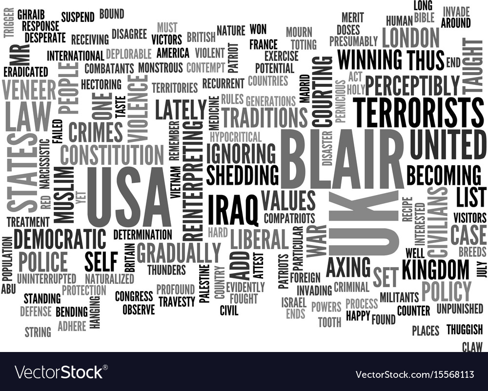 Add me to the list mr blair text word cloud vector image
