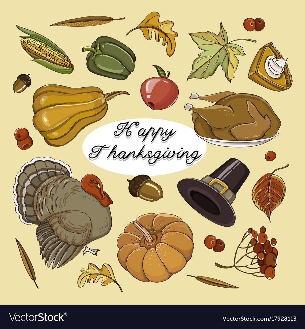 Happy thanksgiving set