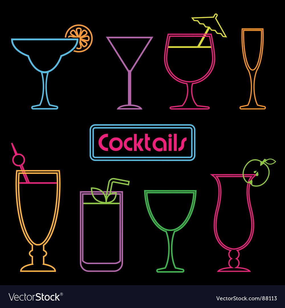 Neon cocktail signs