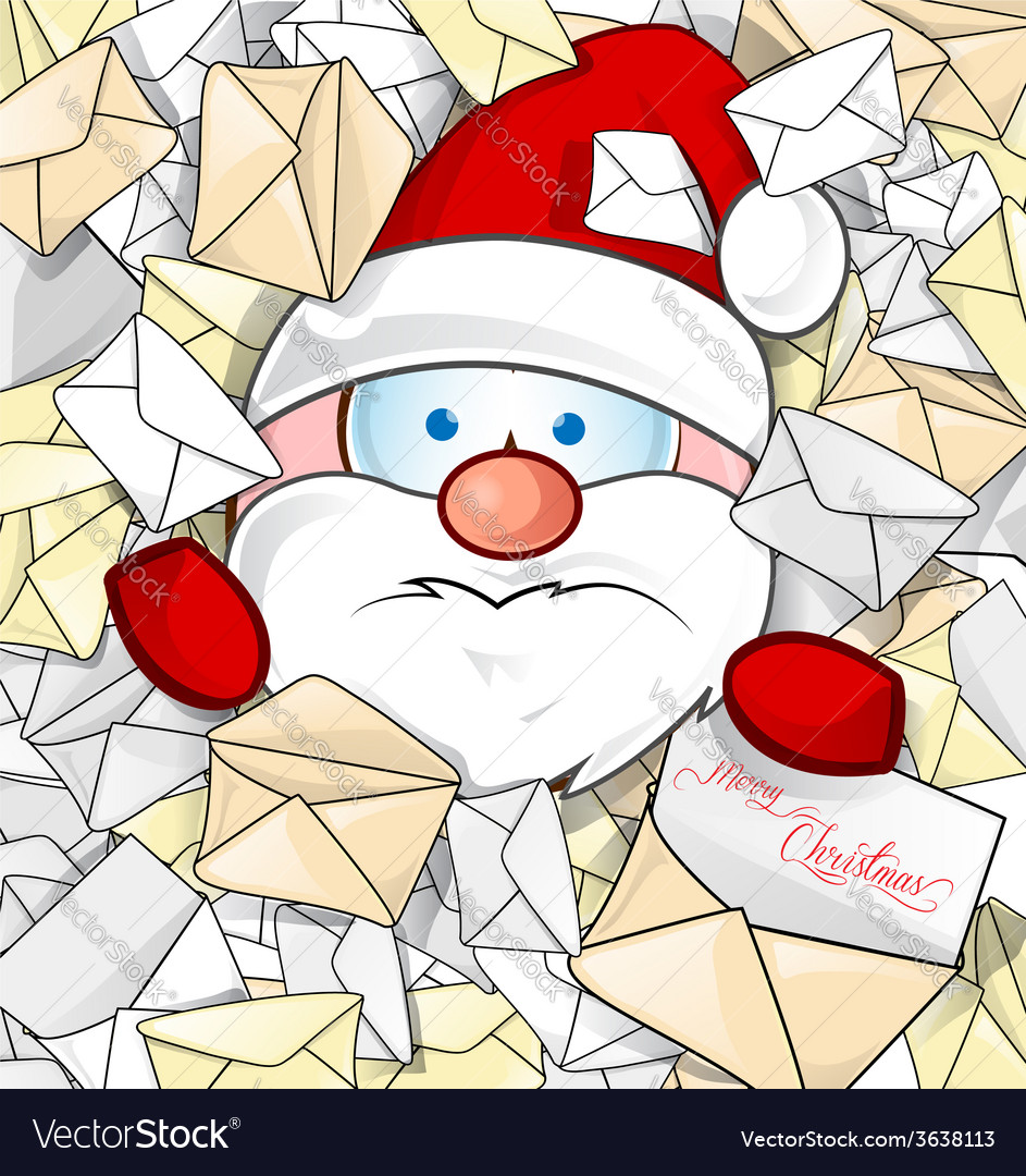 Santa claus on mail background Royalty Free Vector Image