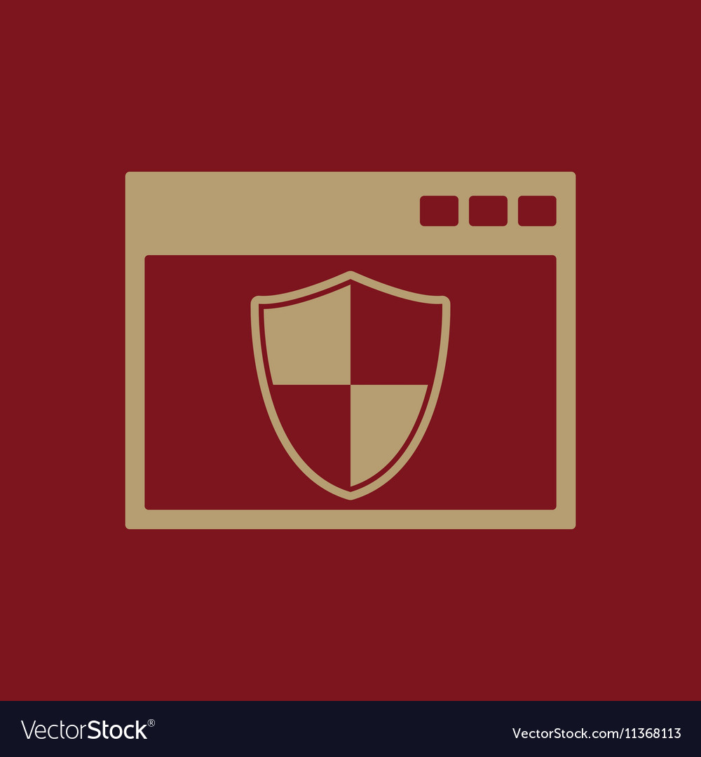 The antivirus icon Firewall and safety