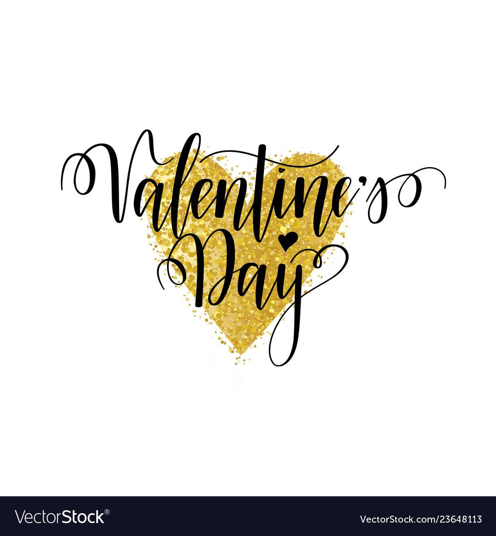 Valentines day nice calligraphy design