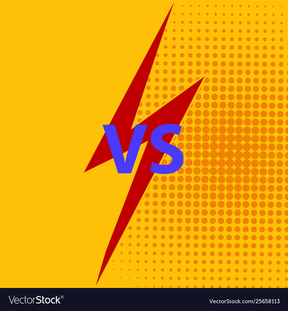Versus vs letters fight background