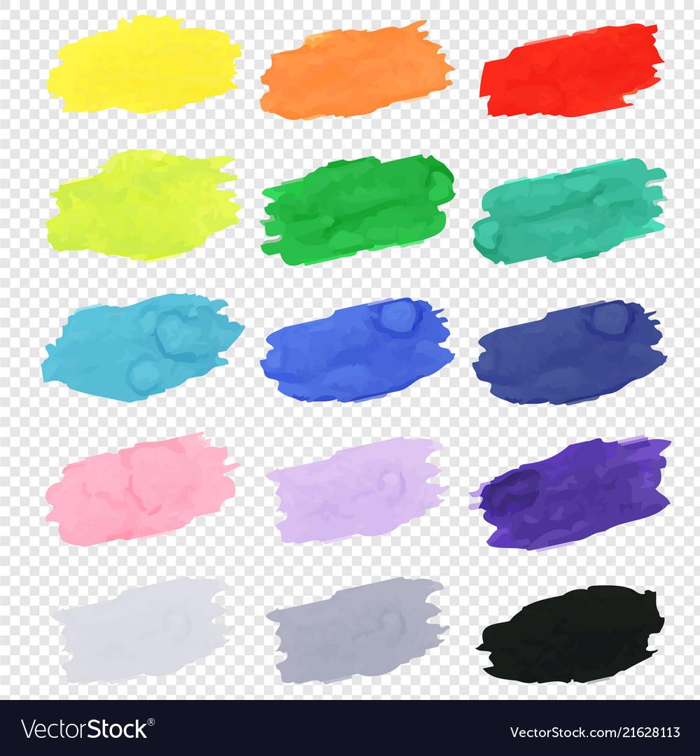 Watercolor blots collection