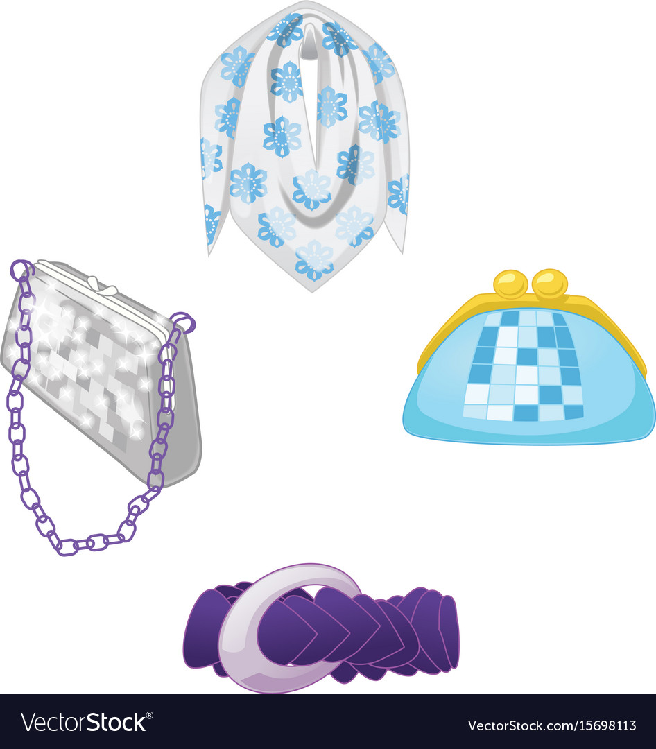 Woman accessories set collection