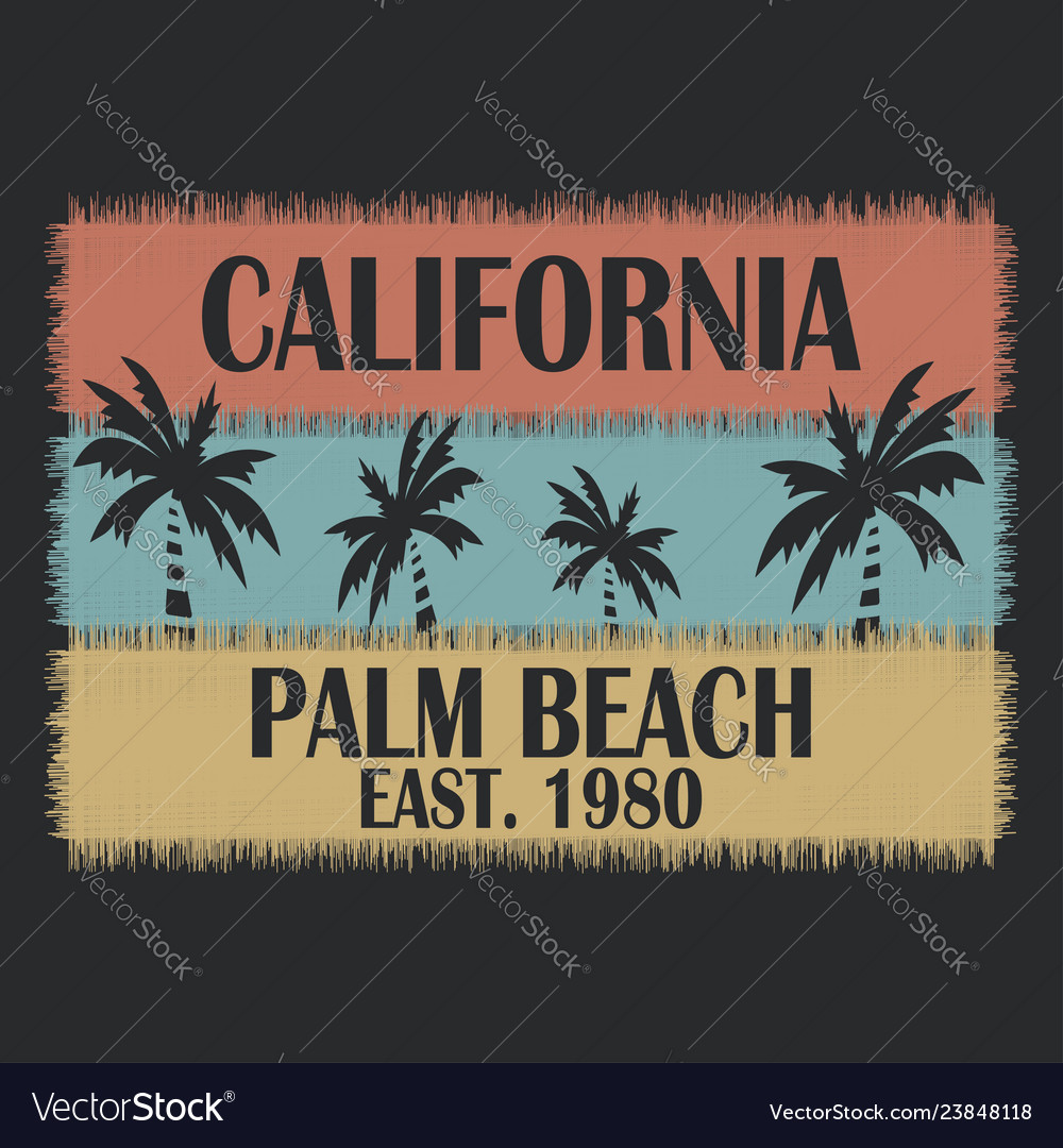 California typography for design clothes t-shirts