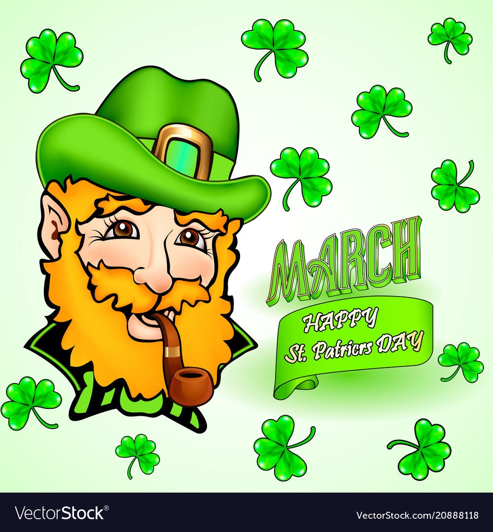 Card for st patricks day and congratulation