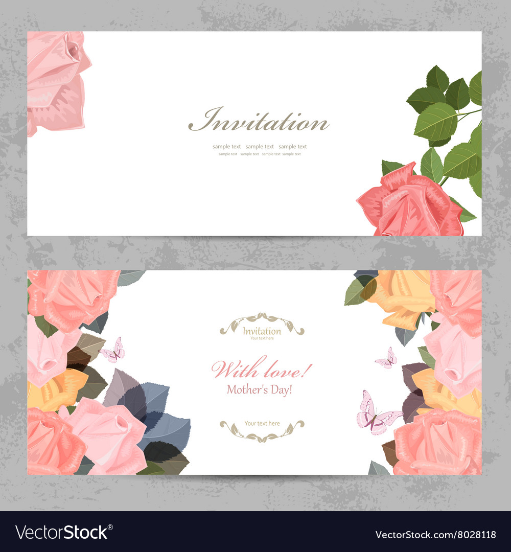 Fashion collection greeting cards with blossom of