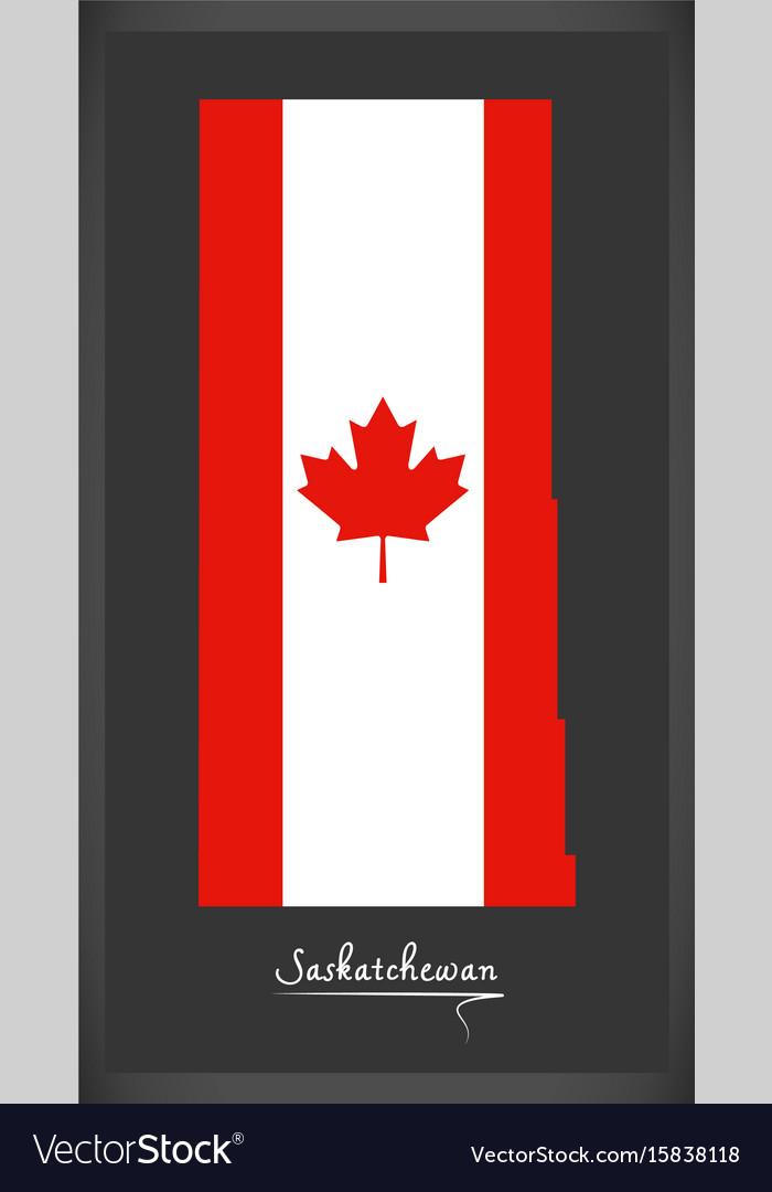 Saskatchewan canada map Royalty Free Vector Image