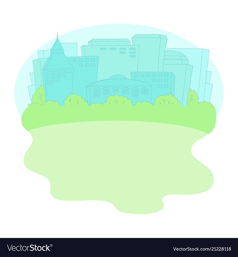Urban cityscape watercolor background