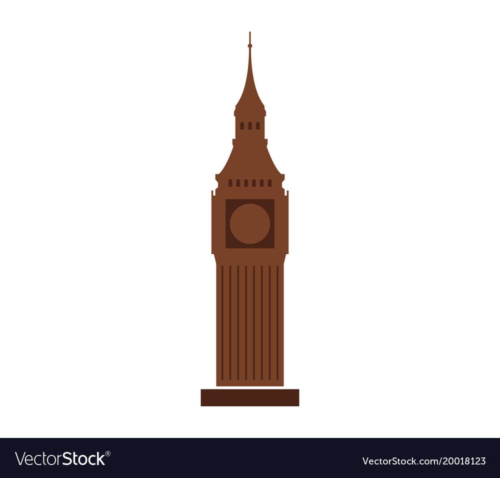 big ben icon royalty free vector image vectorstock rh vectorstock com big ben vector eps big ben vector eps