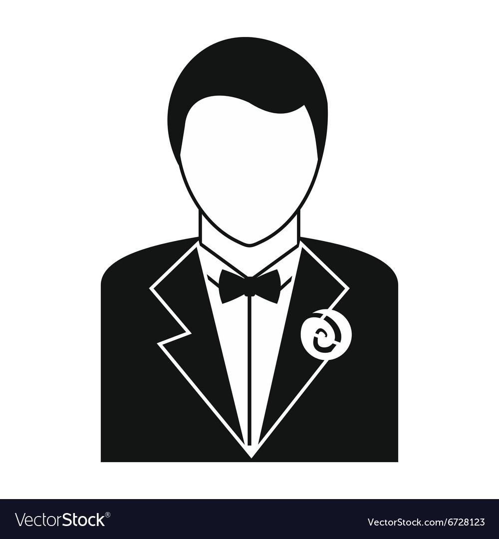 Bridegroom simple icon vector image