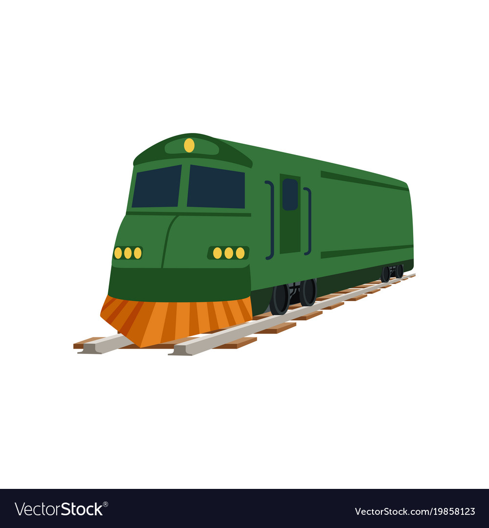 Green cargo or passenger train locomotive