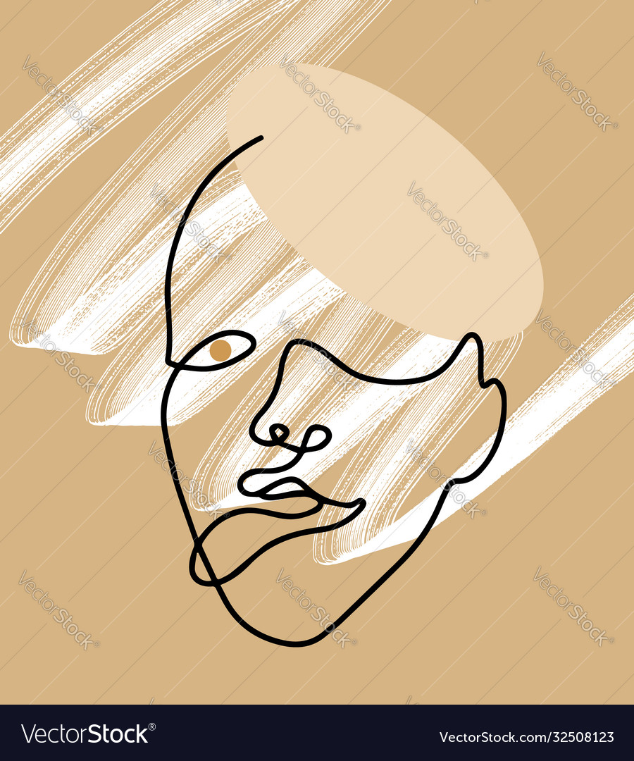 Hand drawn flat woman
