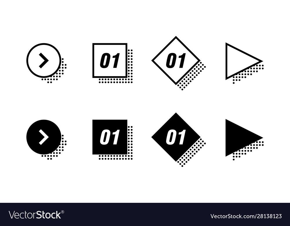 Infographics options design elements round