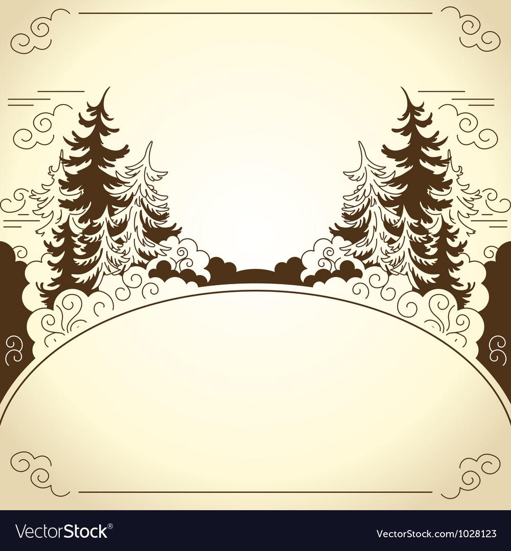 Landscape frame vector image