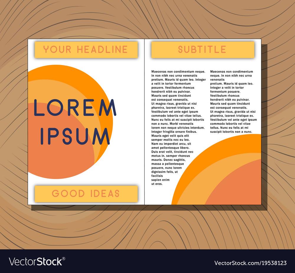 medical brochure cover template flyer design vector image