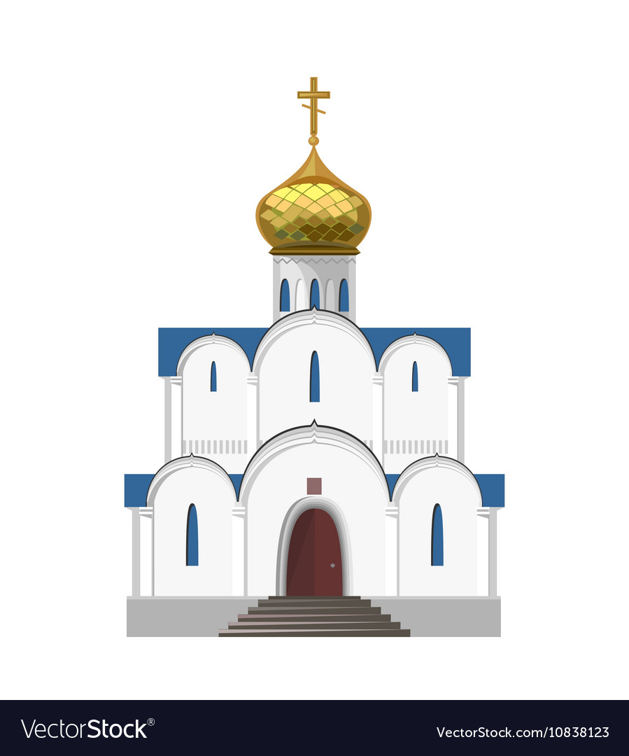 Russian orthodox church icon isolated on white