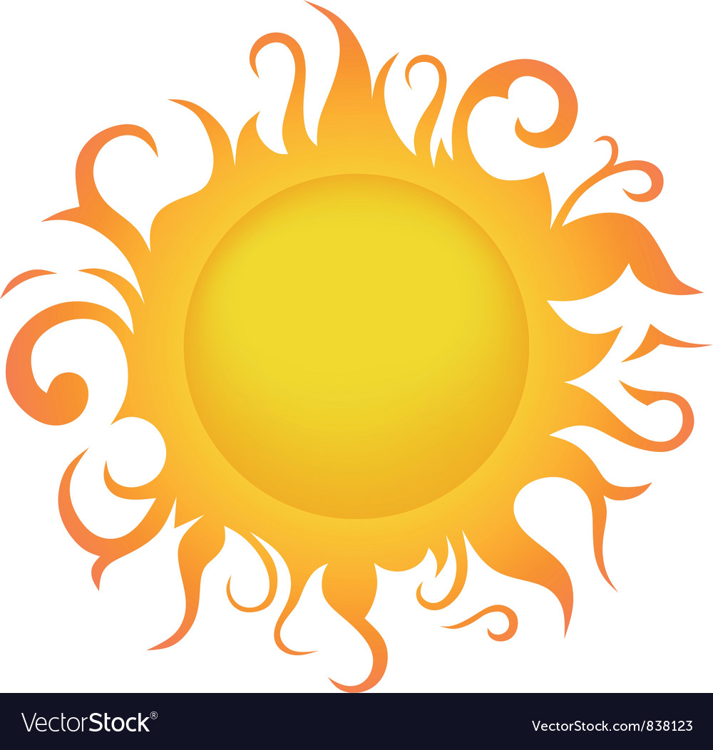 sun royalty free vector image vectorstock rh vectorstock com vector sunburst vector sunflower images