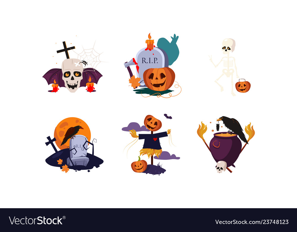 Traditional design elements halloween