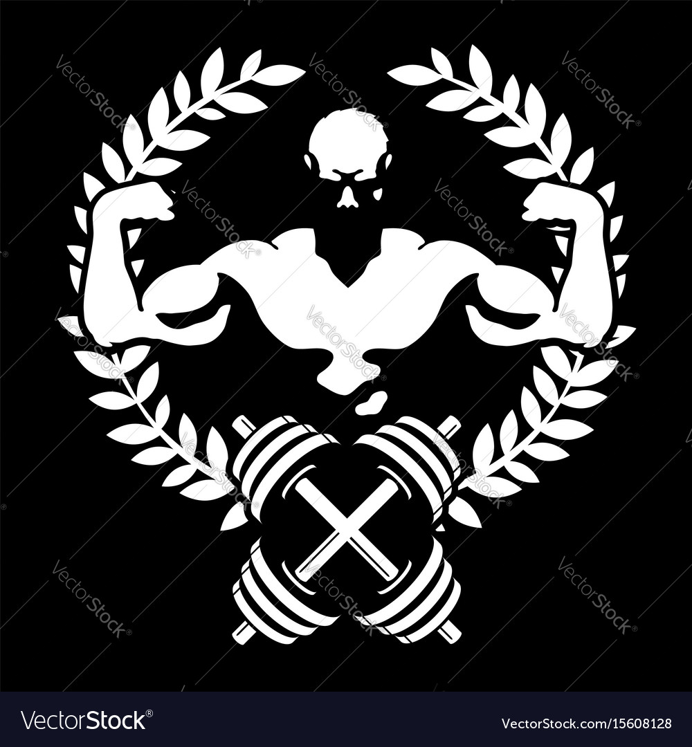 Athlete with muscles symbol for the gym