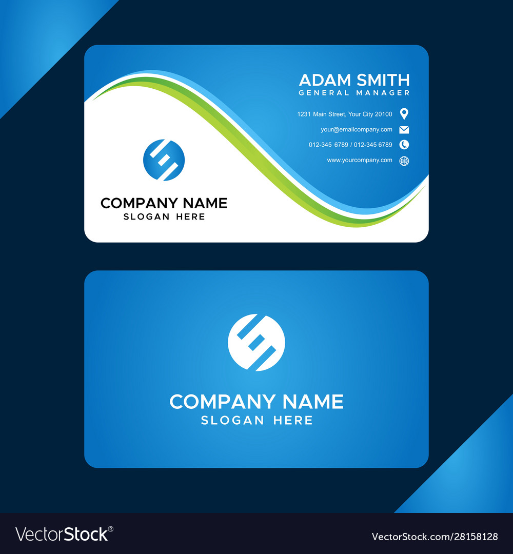 Business card template images