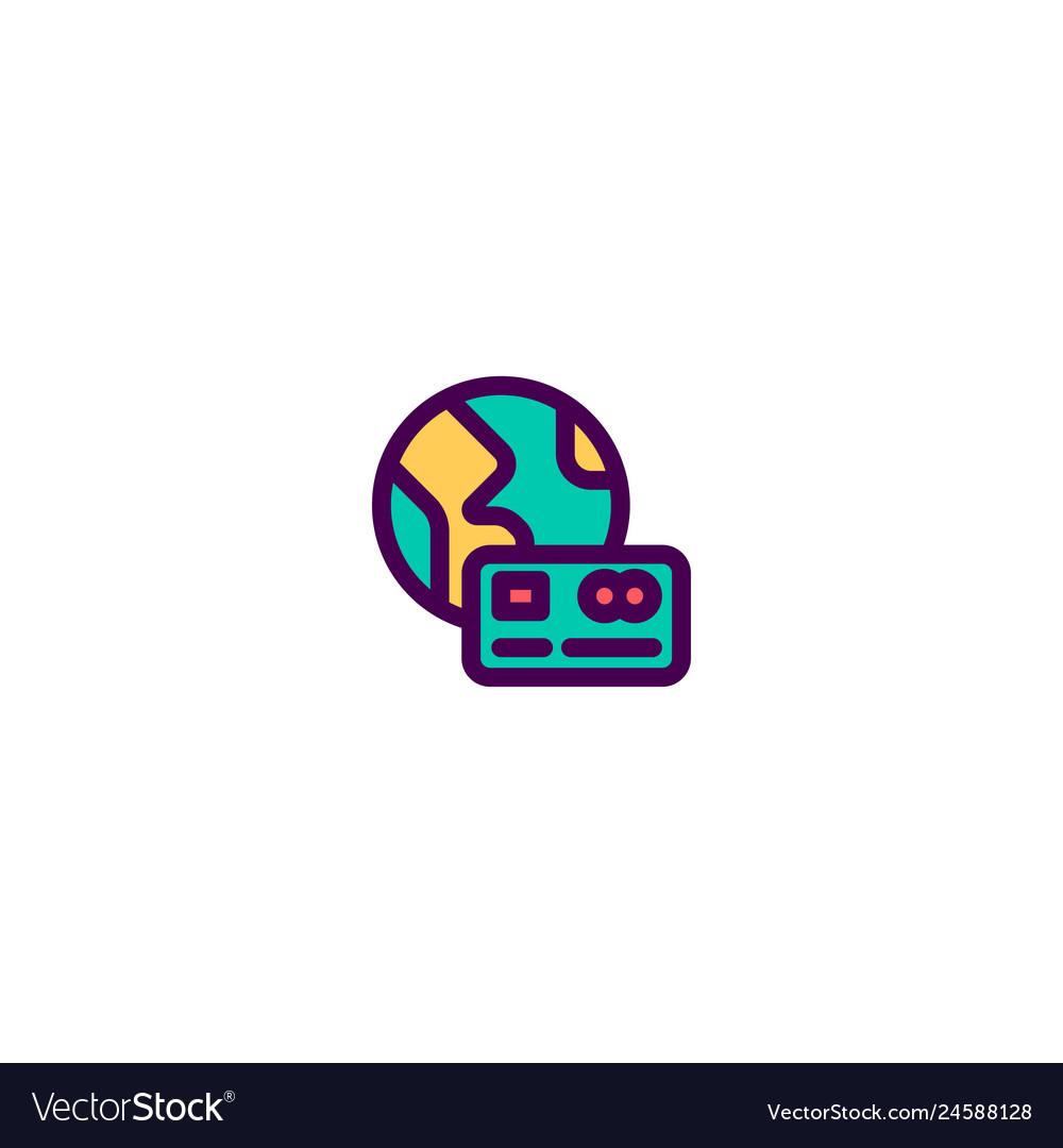 Credit card icon design e-commerce icon design