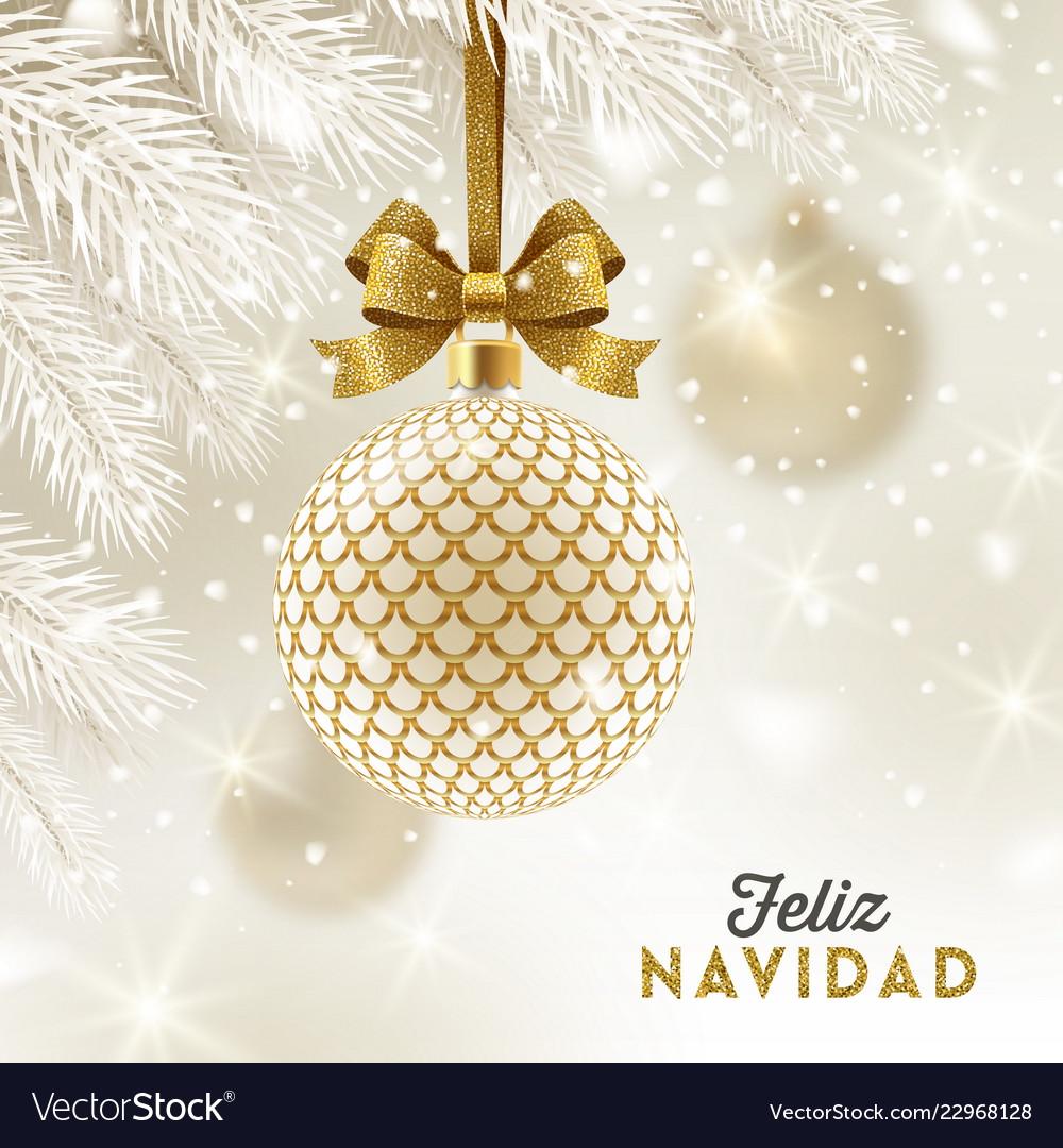 Feliz Navidad Cristmas.Feliz Navidad Christmas Greetings In Spanish Vector Image