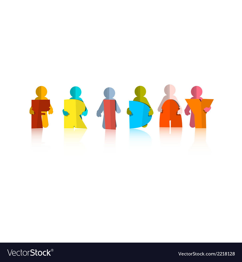 Friday Colorful Title - Paper Cut People and