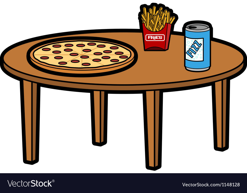 Pizza on a table