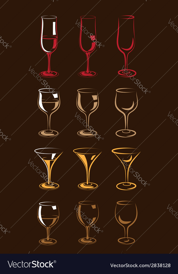 Stylized glasses colorful vector image