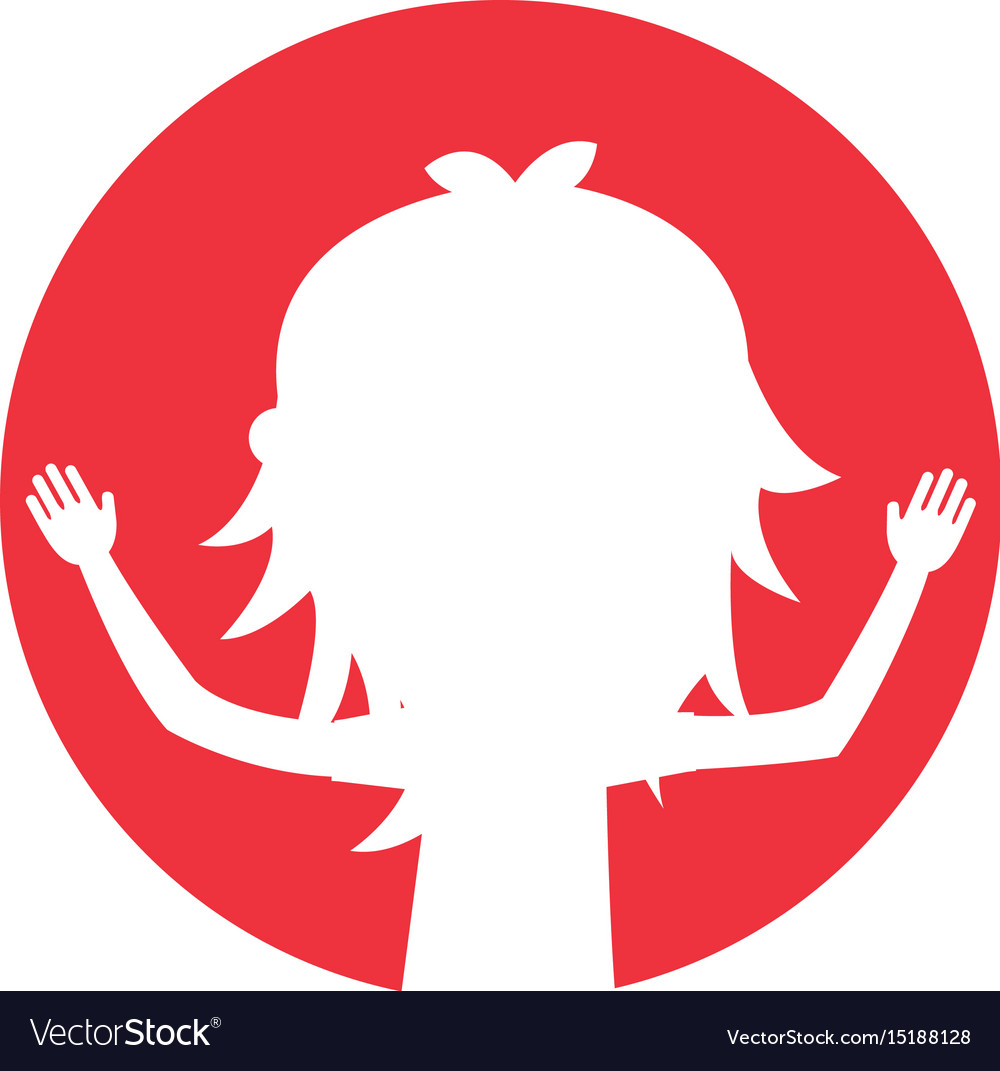 Young woman silhouette avatar character vector image