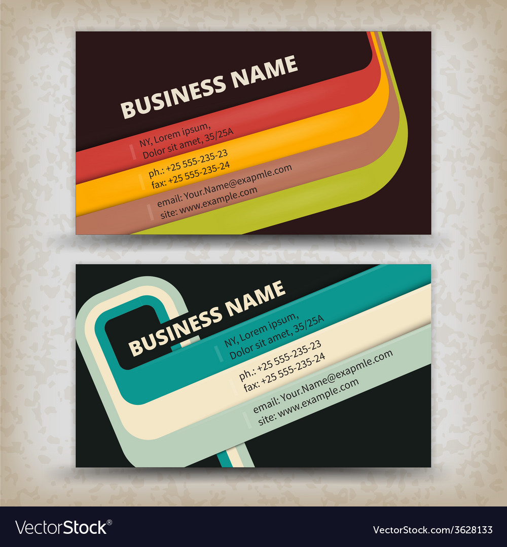 Abstract creative business cards royalty free vector image abstract creative business cards vector image reheart Images