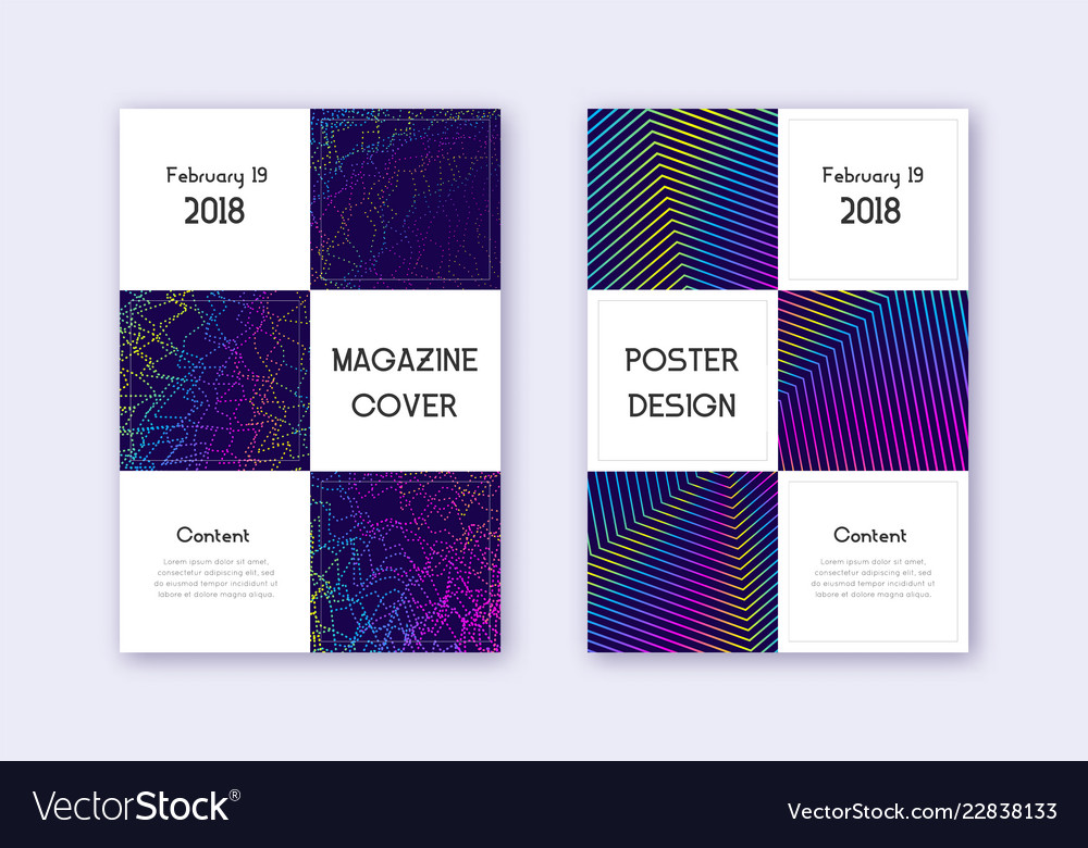 Business cover design template set rainbow abstra