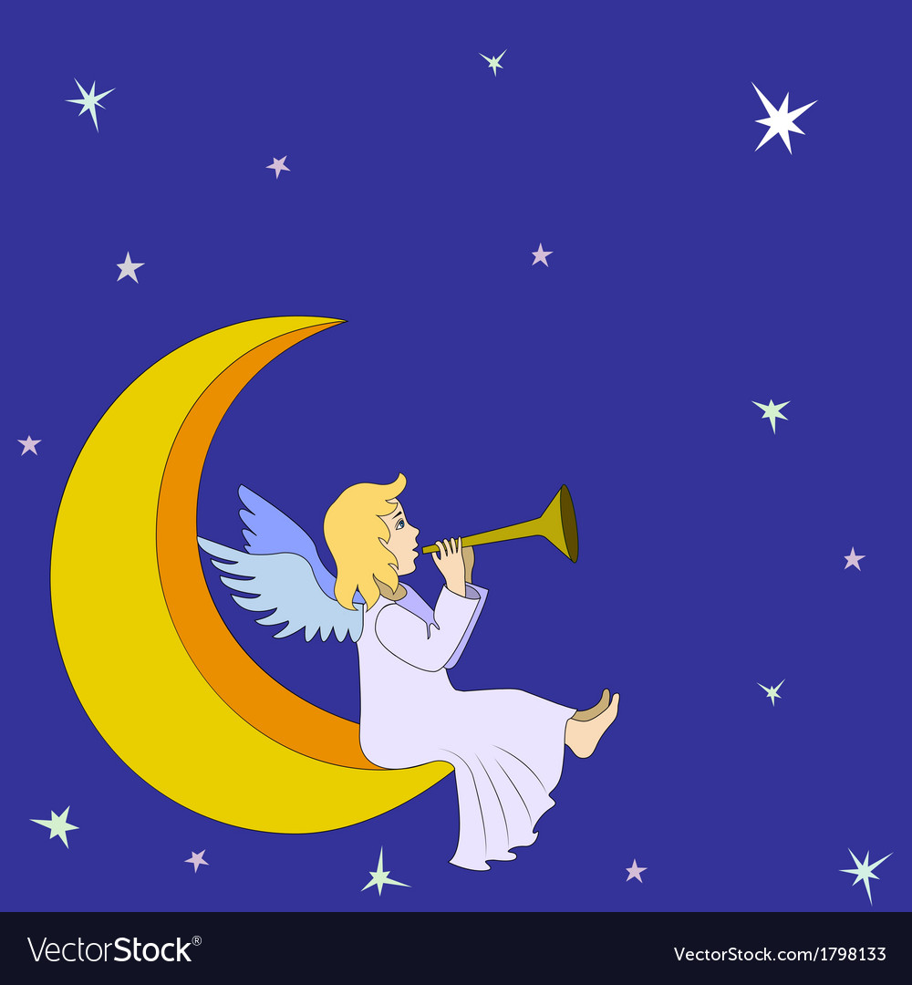 Christmas fairy angel vector image