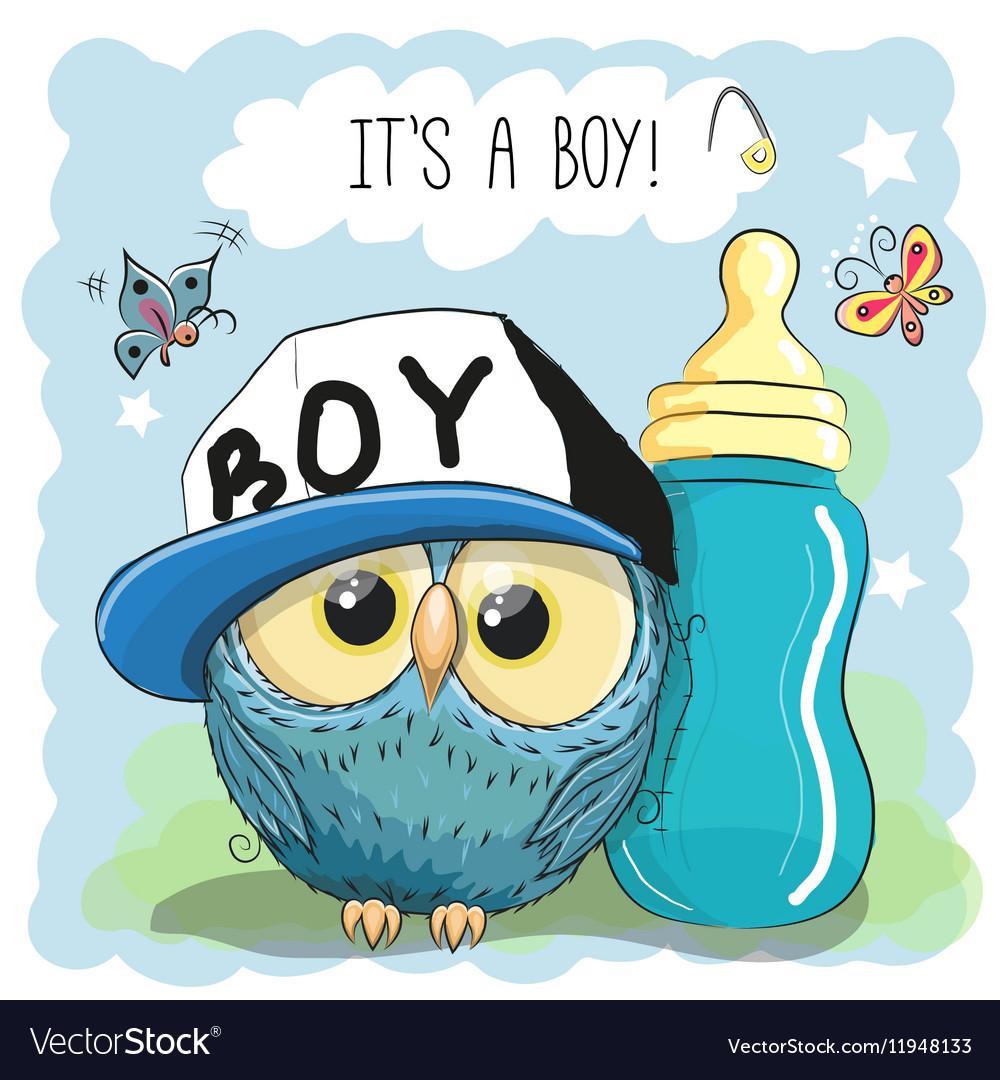 Cute Cartoon Owl boy